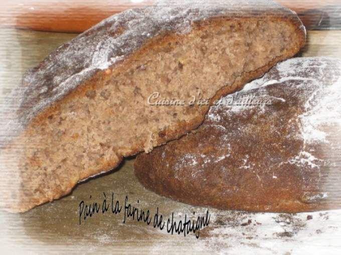 Mettre tous les ingrédients (dans l'ordre indiquée), dans la cuve de votre Machine à pain. - Recette Autre : Pain à la farine de chataigne et aux céréales par Cuisine d'ici et d'ailleurs