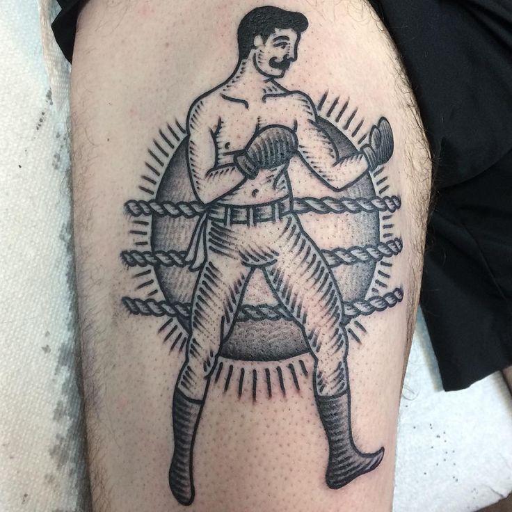 @eastrivertattoo a below the belt boxer #boxertattoo #boxer #tattoo