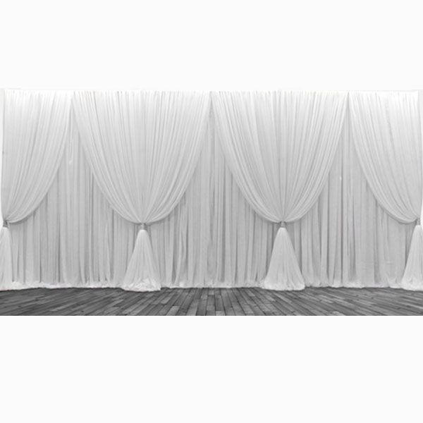 silk wedding item swag decoration ice curtains stage curtain with backdrop sequin romantic