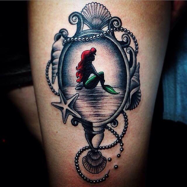Tattoo, mermaid, Disney, Ariel