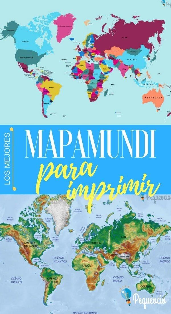 Mapamundi Para Imprimir Home Schooling Map Education