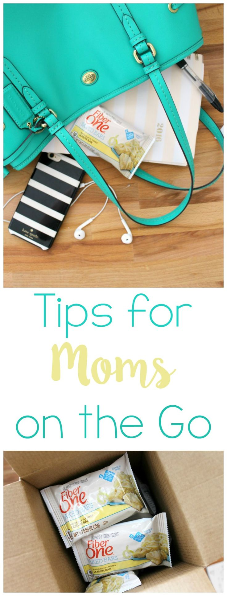 Tips for Moms on the Go - From what to keep in your bag to what to snack on when cravings hit, these are great tips for any mom! AD