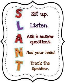 SLANT - Teach Like a Champion Tuesday. Check out this FREEBIE from Teach Like a Champion