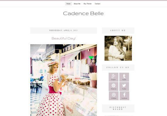 Premade Blog Theme Design  Blogger Blog by DigitalBeautiful