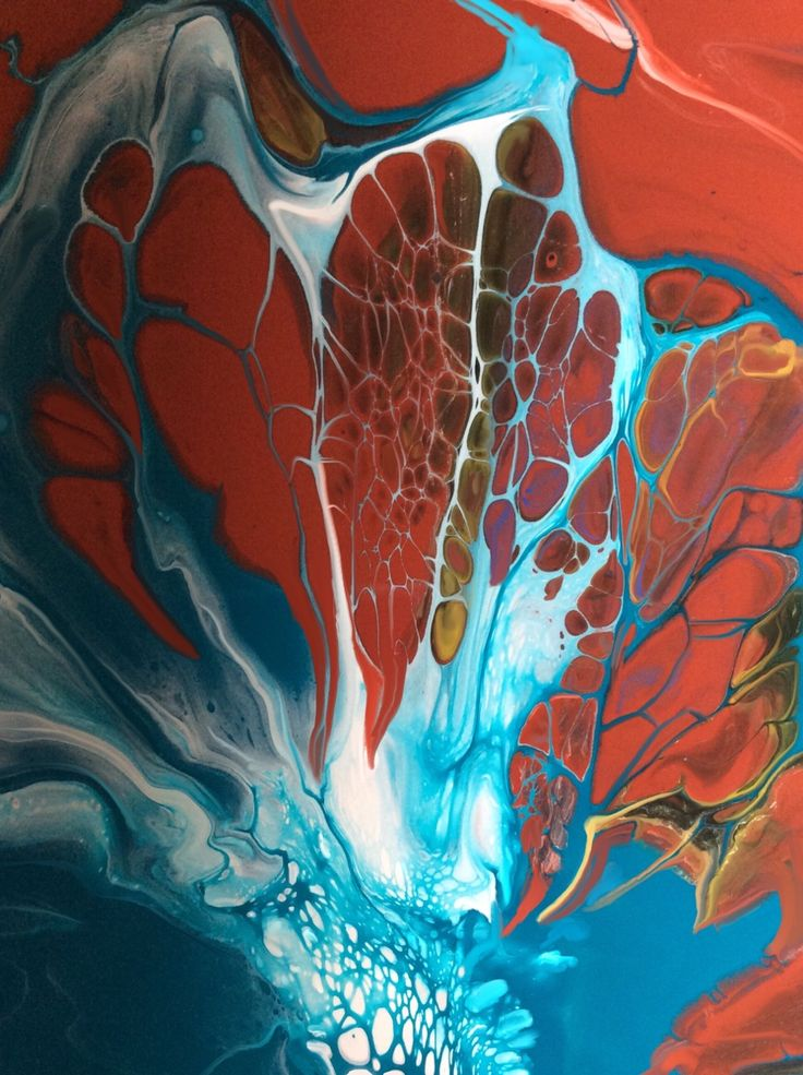 woodblend:  Wonder Web Poured acrylic painting by Nancy Wood