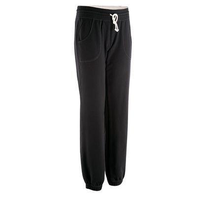Pantaloni Abbigliamento - Pantaloni felpati fitness donna FLEECE neri DOMYOS - Parte bassa