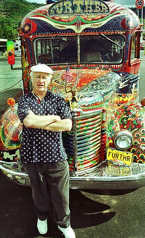 Ken Kesey, Further, and the Merry Prankster had such a simple idea, get a bus, paint it, and travel across the United States. Although, if you have read about the trip, it didn't seem like alot of fun at some times.  It was more of the idea of what they did that has inspired my writing, and shaped my view of impacting culture.