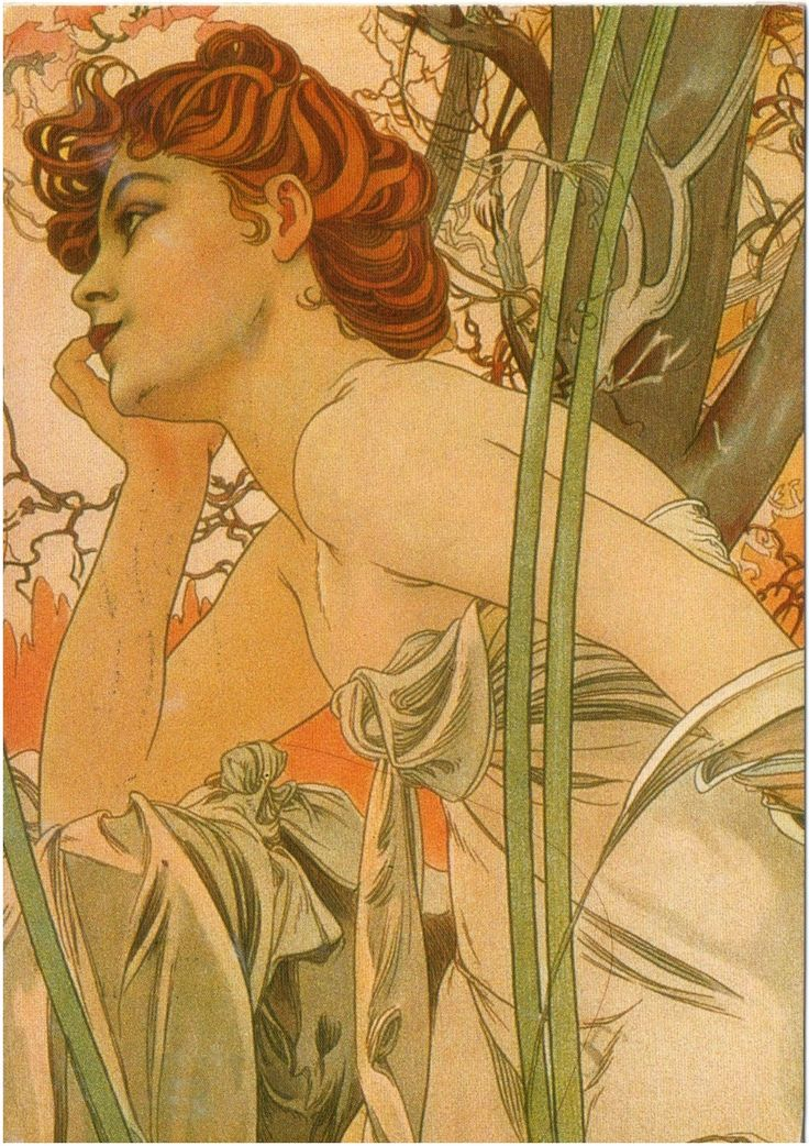 NL-2806526 - Arrived: 2014.12.29   ---   Mucha - The Times of the Day: Evening Contemplation (1899)