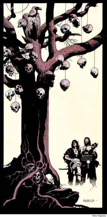 """thehauntedrocket: """"Fafhrd And The Gray Mouser by Mike Mignola """""""