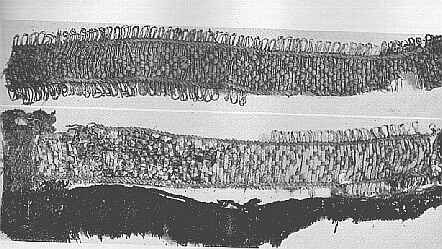 Band B 2b from Grave No. 824 at Birka, in Sweden.  Viking Age.