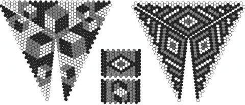 Шестиугольный треугольник   biser.info - всё о бисере и бисерном творчестве