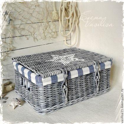 Сундук Моряка плетеный - сундук плетеный,корзина плетеная,чемоданчик,сундучок для детской
