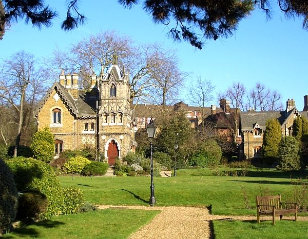 Holly Village, Highgate, North London. Listed Building. H. A. Darbishire. 1865. Photograph and text 2008 by Jacqueline Banerjee.