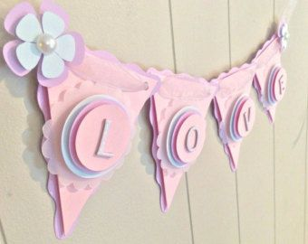 Girl Baby Shower Banner Butterfly Baby Shower by BeantownBabyShop