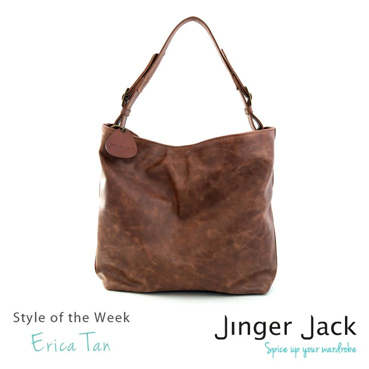 Erica Leather Slouchbag in Tan.
