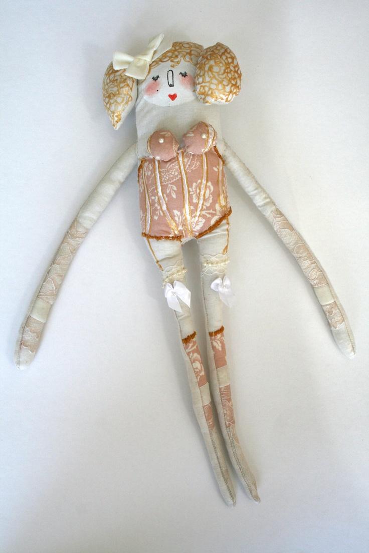 Cossette - Heart of Gold Collection - Handmade Art Doll - OOAK. via Etsy.