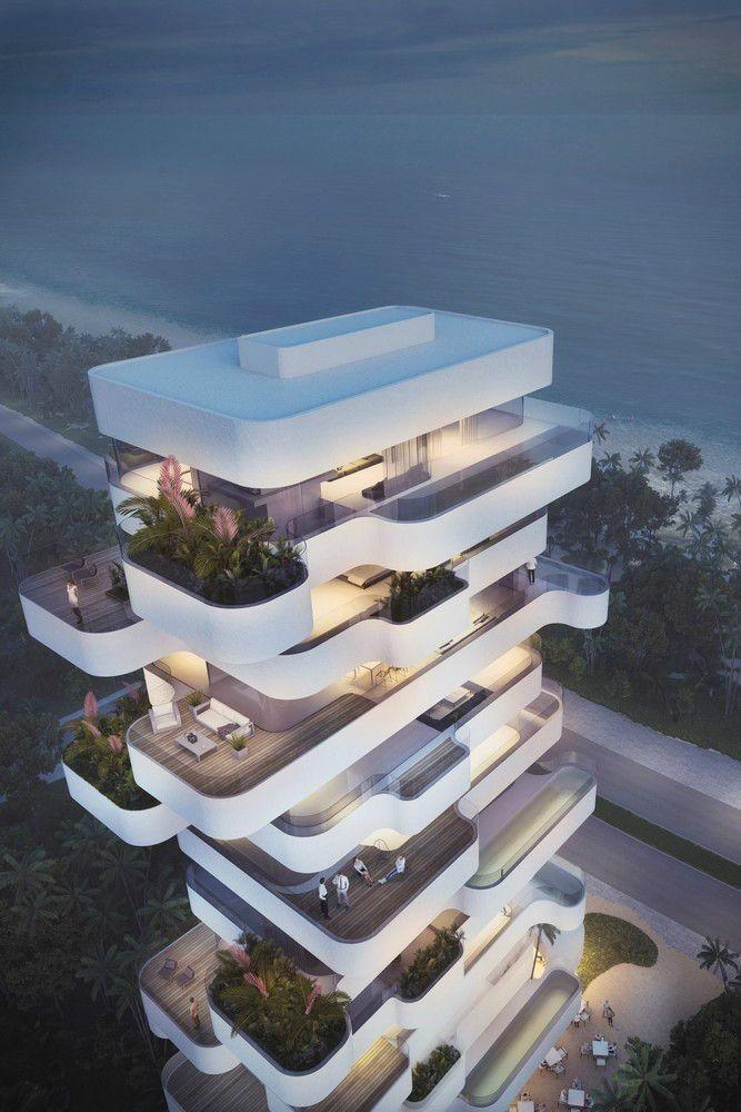 Tour résidentielle élégante surplombant la plage de Limassol – #architecture #on #B …