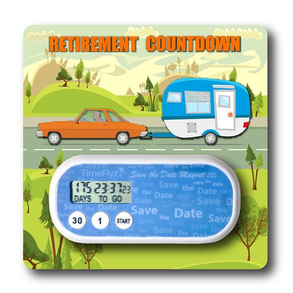 The Fun Way to Count Down to Your Retirement! * Die Cut Car and Camper on a…