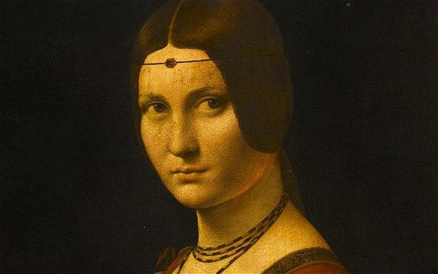 ... of a Woman ('La Belle Ferronière'), 1497, by Leonardo da Vinci