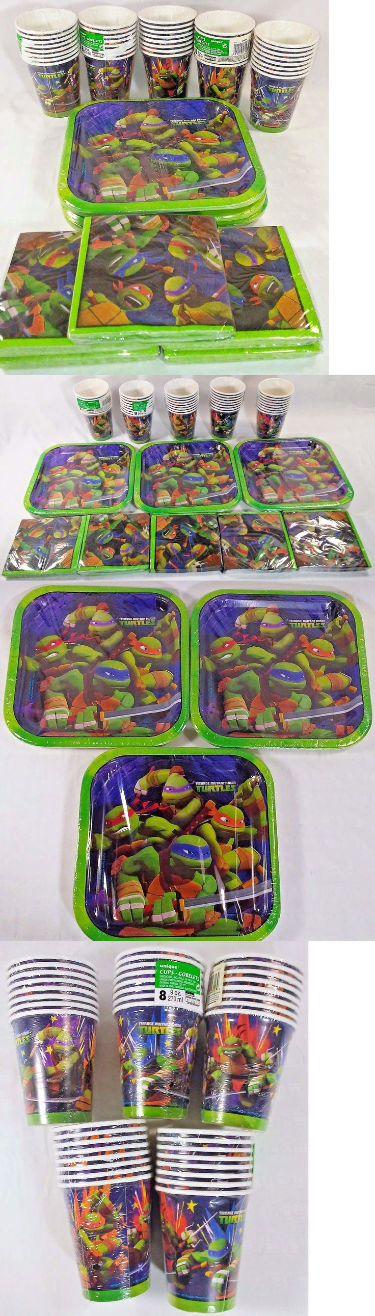 Party Tableware and Serveware 26388: Tmnt Teenage Mutant Ninja Turtles Party Supply Lot Tableware Cups Plates Napkins -> BUY IT NOW ONLY: $42.25 on eBay!
