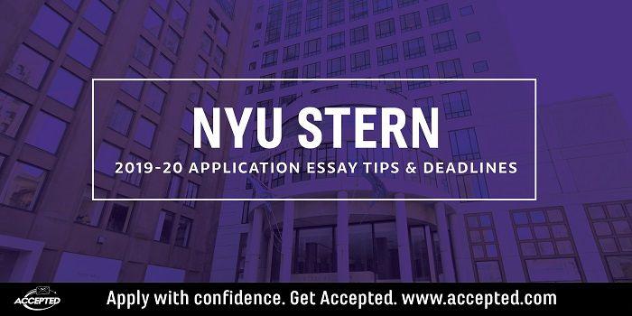 Nyu Stern Langone Mba Essay Tips Deadlines 2019 2020 Essay Tips Essay Essay Questions