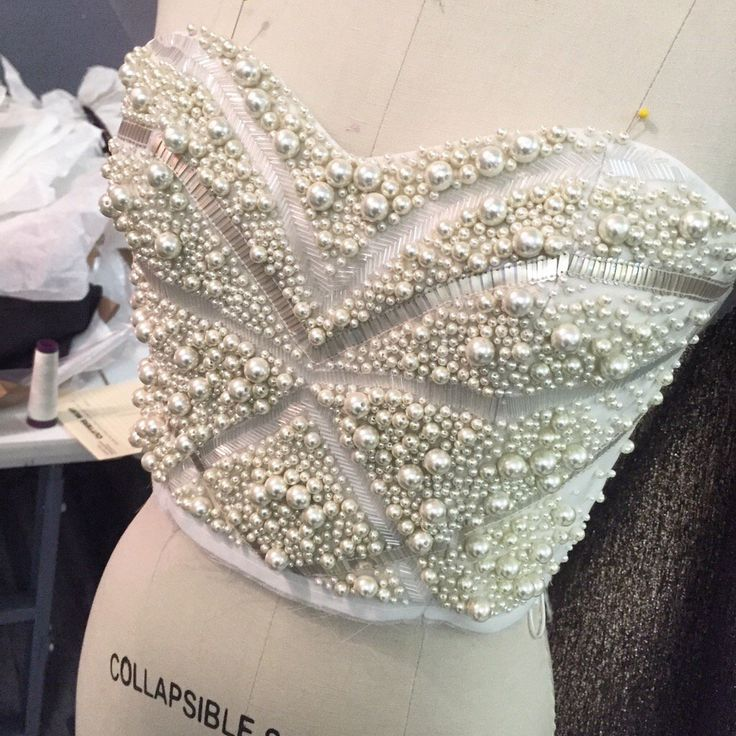Stunning intricate pearl and sequin bodice being worked on in the studio today. Oh and it's MY BIRTHDAY and I'm 30!!!
