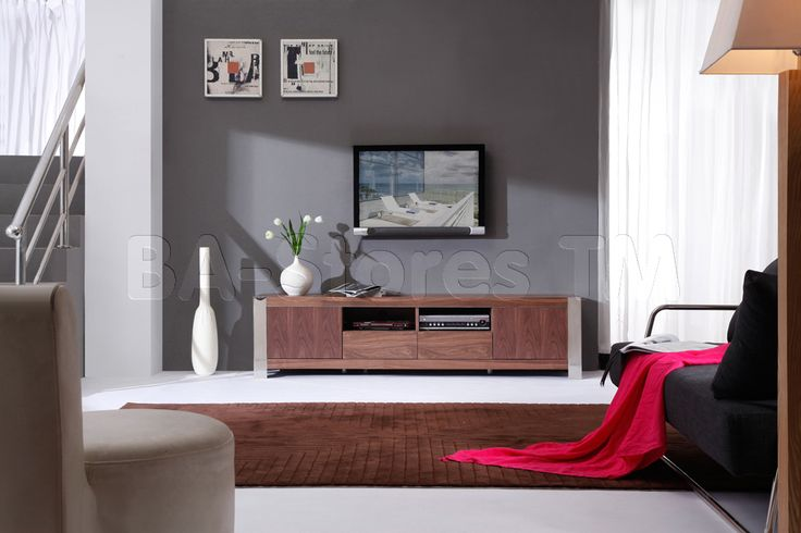 B-Modern Composer TV Stand in Light Walnut by B-Modern