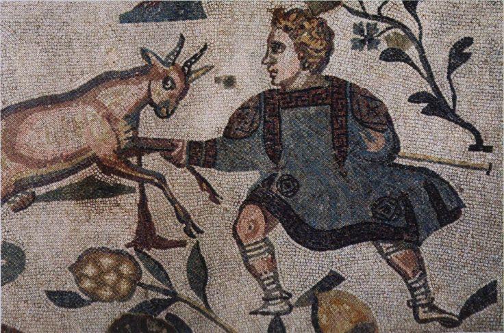 Villa del Casale - l'enfant et la chèvre