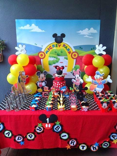 Decoración de Fiesta de Mickey Mouse