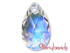 Crystal AB Swarovski Crystal Elements 6106 Almond Pendant 16mm  #Swarovski #pendant #crystal #6106 #jewelrysupplies #anybeads