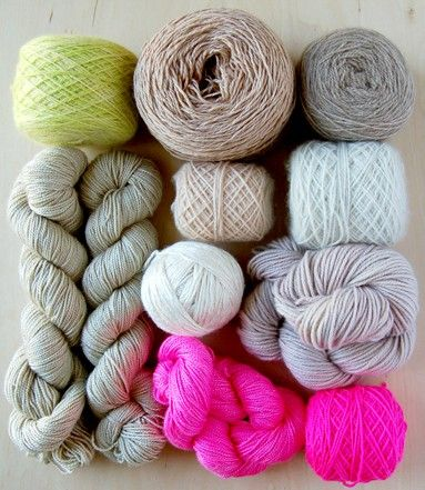 My favorite color palette at the moment ... in yarn form. - The Jealous CuratorColors Combos, Color Palettes,  Woolen, Purl Soho, Colors Palettes, Colors Schemes, Hot Pink, Colours Palettes,  Woollen