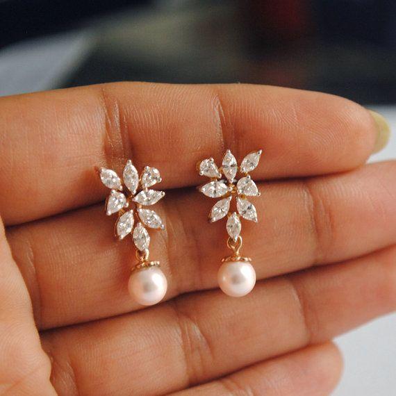 Boucles d'oreilles diamant nuptiale. 1.05 ct par AbhikaJewels