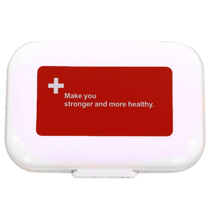 ミニポータブルウィークリーピルケース医学タブレット収納容器ケース医学薬物ホルダービタミンホルダーメタルピルオーガナイザーボックス