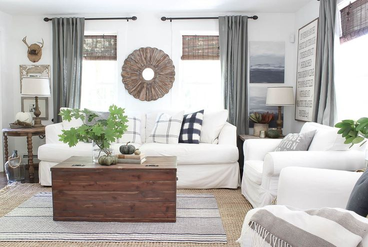 Farmhouse Fall Living Room - Rooms For Rent blog