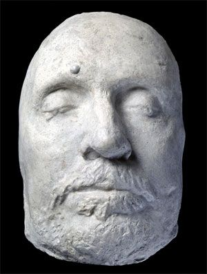 Oliver Cromwell's Death Mask, this one at the Ashmolean. Several moulds exist.  This one looks a lot more like our man to me.  The National Portrait Gallery also has an Oliver Cromwell mask which closely resembles this one.
