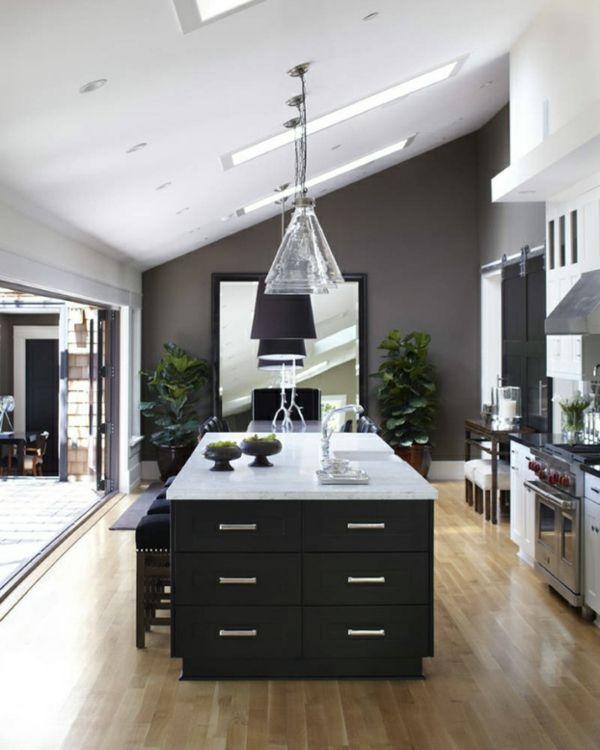 k che design k cheninsel wei pendelleuchten idee k che dachgeschoss pinterest design and. Black Bedroom Furniture Sets. Home Design Ideas