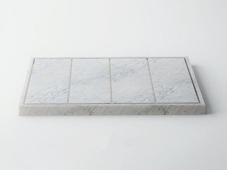SQUARE Plato de ducha de mármol de Carrara Colección Easy by FILODESIGN di…