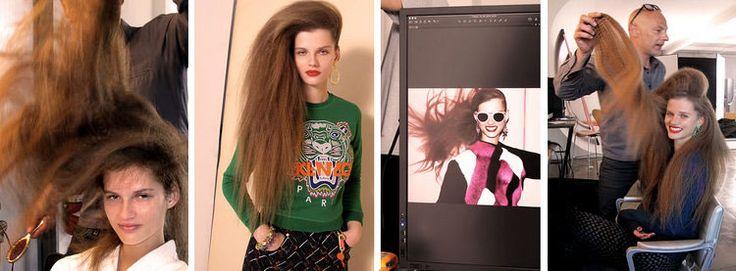 DIEDRE-DUKAUSKAITE-Light Crimped hairstyles with Geidre for US Elle