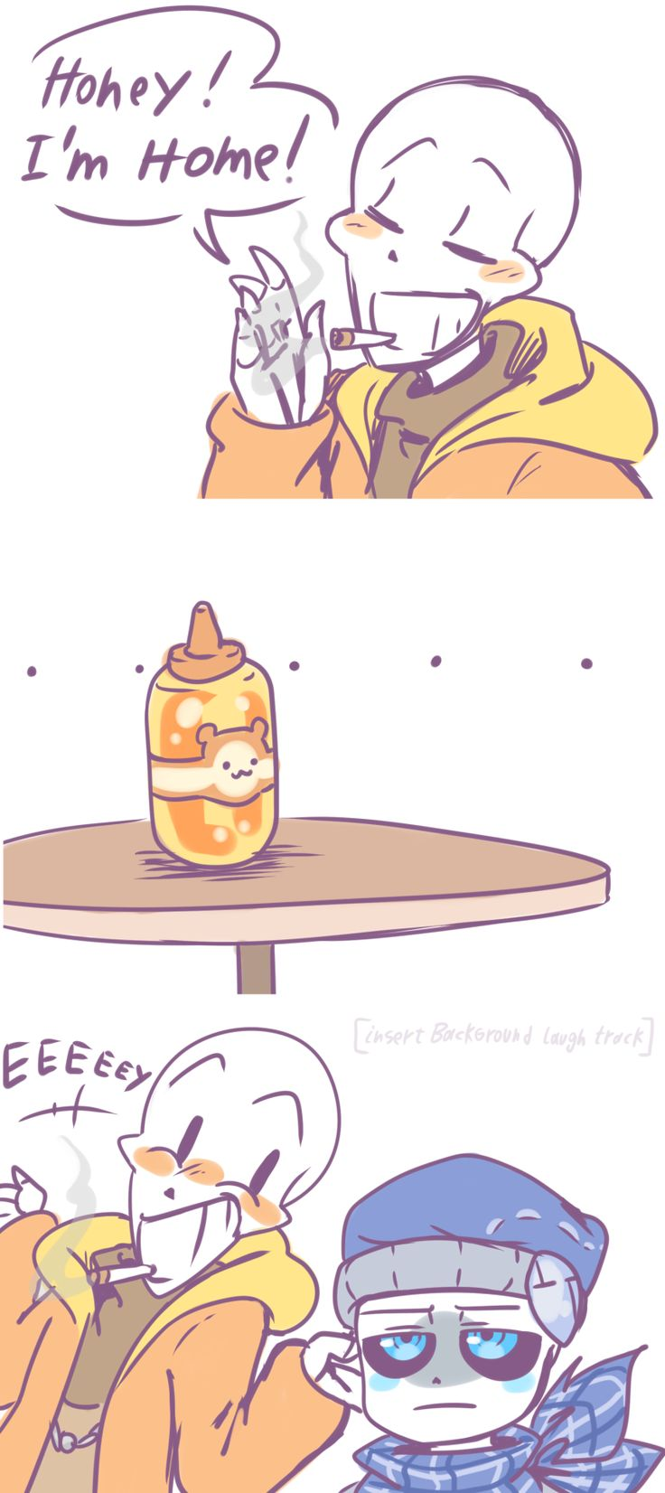 [old comic] sc!pap thinks he's punny again -3- • underswap/ popcornpr1nce • scvsbbb/ me