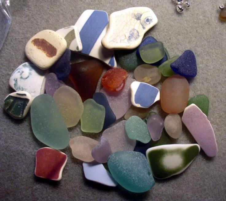 Nova Scotia beach glass,one of my most favorite things <3