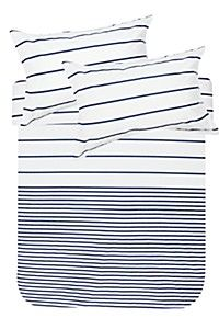 100% COTTON PRINTED STRIPE DUVET COVER SET - Queen Bed cover