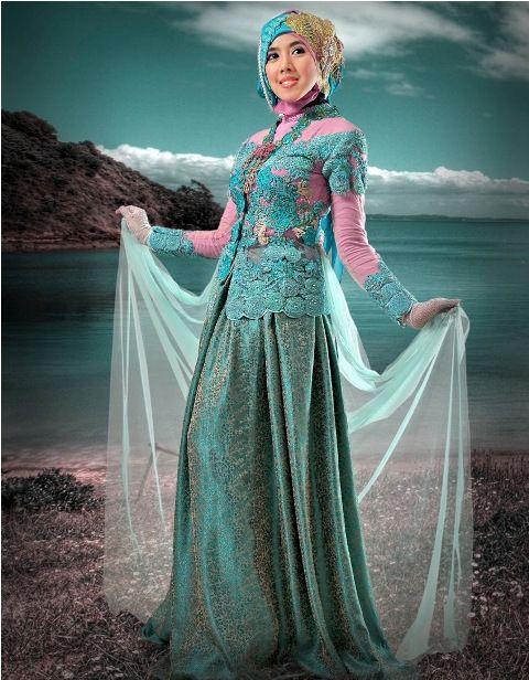 Model Kebaya Pengantin Muslim Anggun dan Elegan