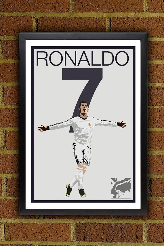 Cristian Ronaldo Poster  Real Madrid  Portugal by Graphics17, $19.99