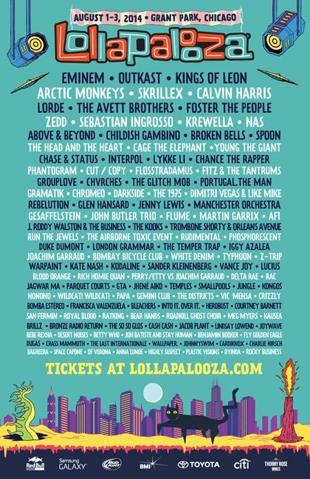FESTIVAL WATCH: Lollapalooza 2014 Includes Arctic Monkeys, Outkast, Spoon And More