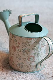 Decoupage watering can
