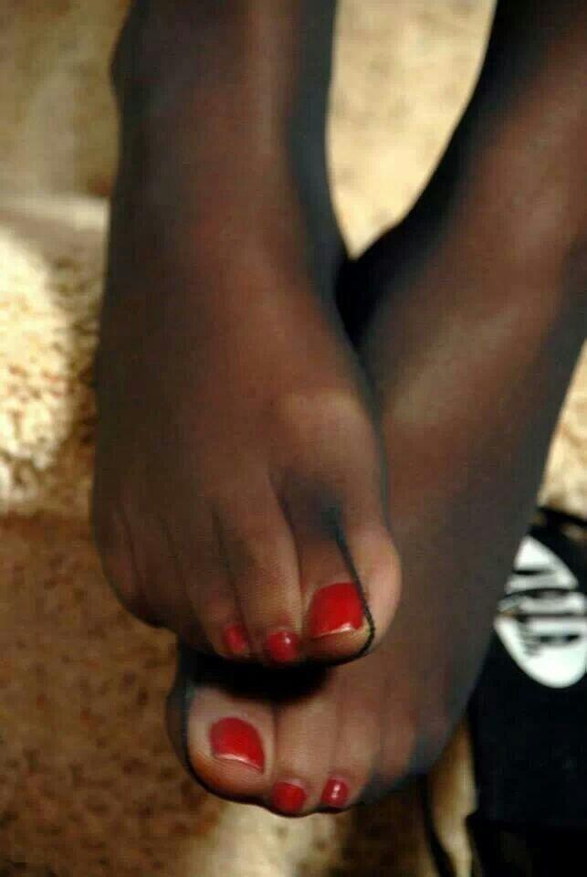 SHE AMAZING!!!!!!!!!!!! See my toenails pantyhose sure