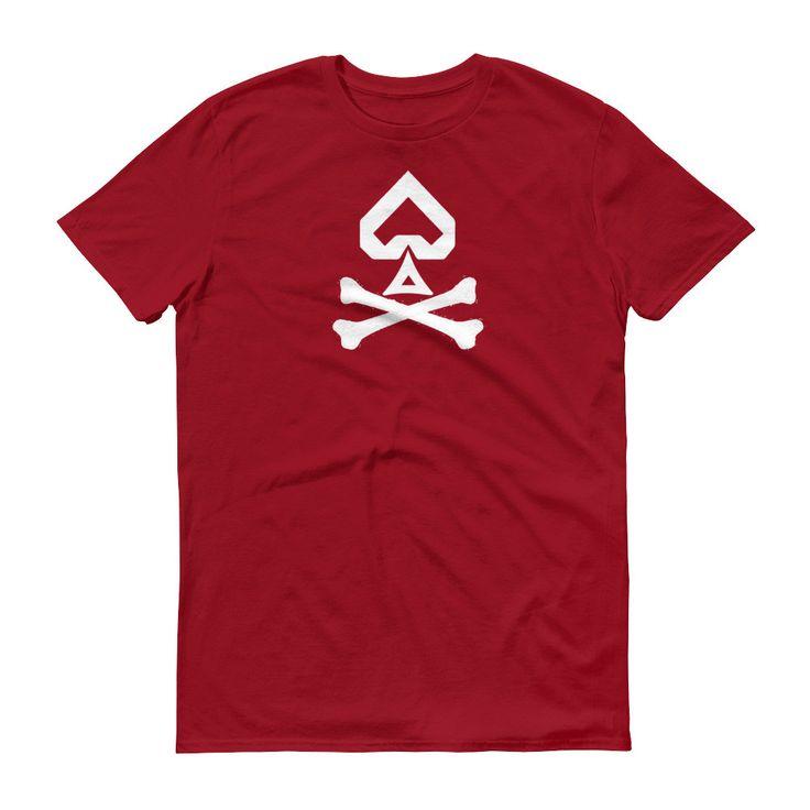 'Spade and Crossbones' (White Large Logo) Short sleeve t-shirt