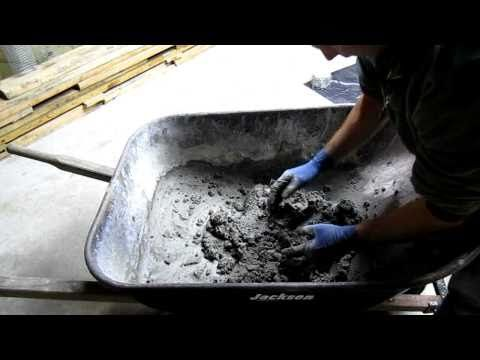 How to mix a concrete design for hand sculpting cement.