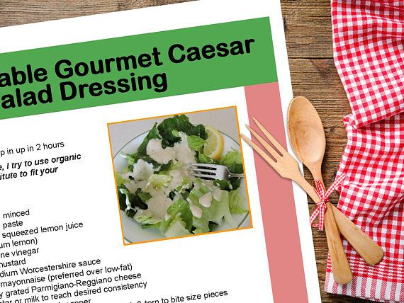 Best 25 salad recipes pdf ideas on pinterest spinach puffs unbelievable gourmet caesar salad dressing recipe my best ever downloadable pdf or jpeg eating forumfinder Images