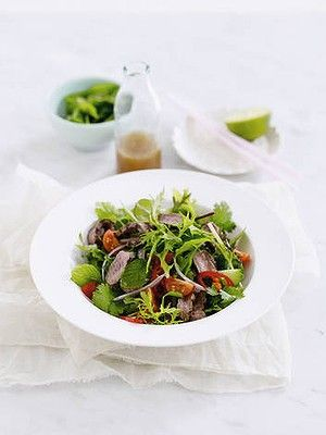 Under 300 cals - Thai beef salad. via Michelle Bridges